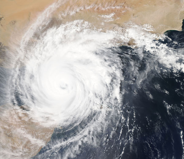 hurricane photo by NASA