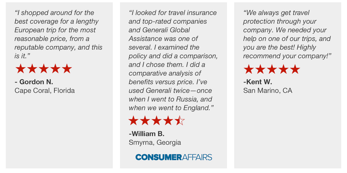 international travel insurance reviews and ratings