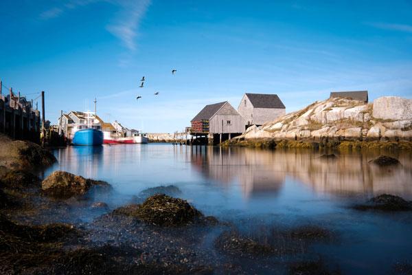Peggy's Cove, a small rural community in Nova Scotia's Halifax Regional Municipality