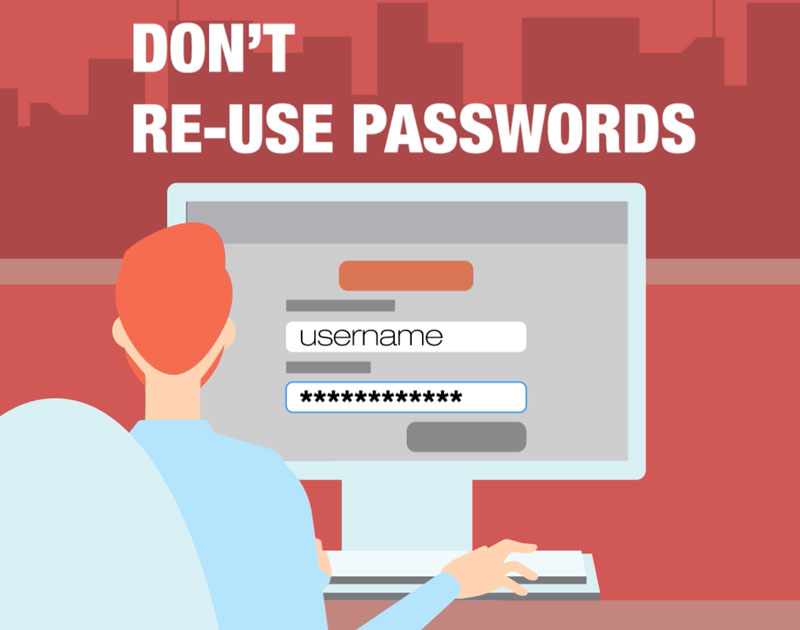 identity theft tip: don't reuse passwords