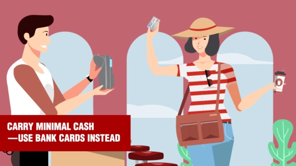 pickpocket tip: carry minimal cash and use cards instead