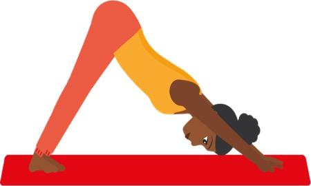 travel yoga downward dog