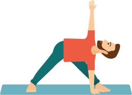 travel yoga triangle pose