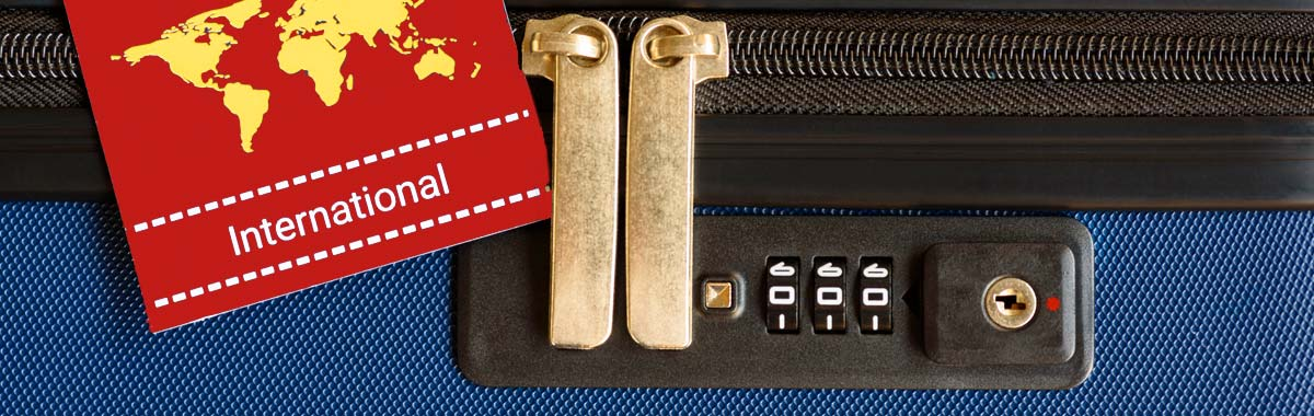 baggage with a lock for travel safety