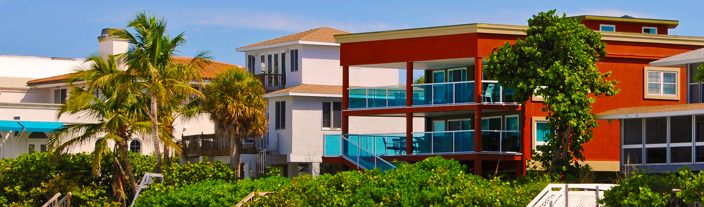 Vacation rentals in a beach setting