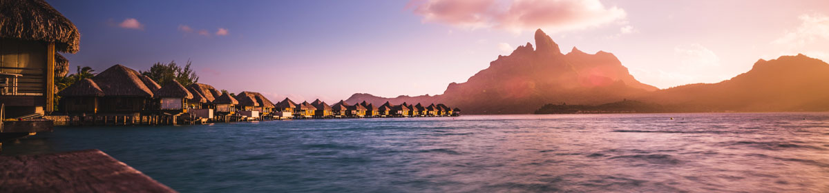 one of the best tropical vacation spots - Bora Bora, French Polynesia