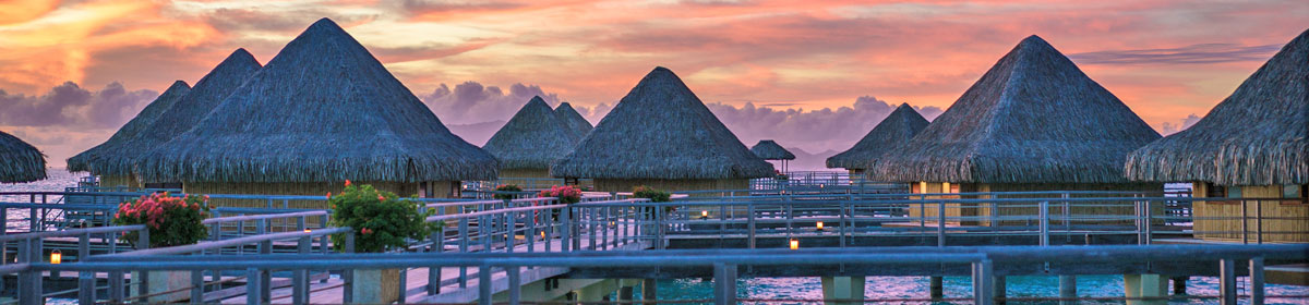 Sunset in Bora Bora, deserving of premium travel insurance