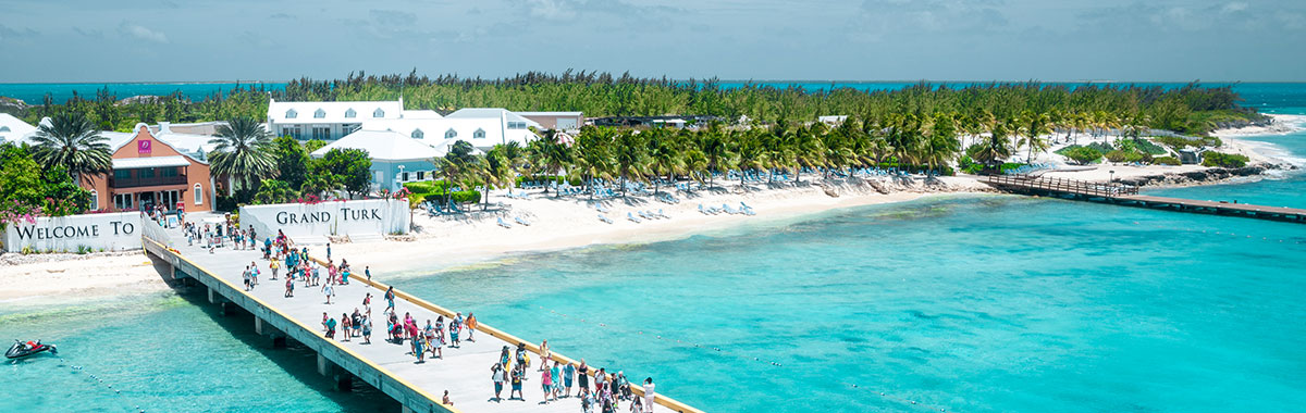 Caribbean beach resorts at Turks and Caicos,  Grand Turk Island