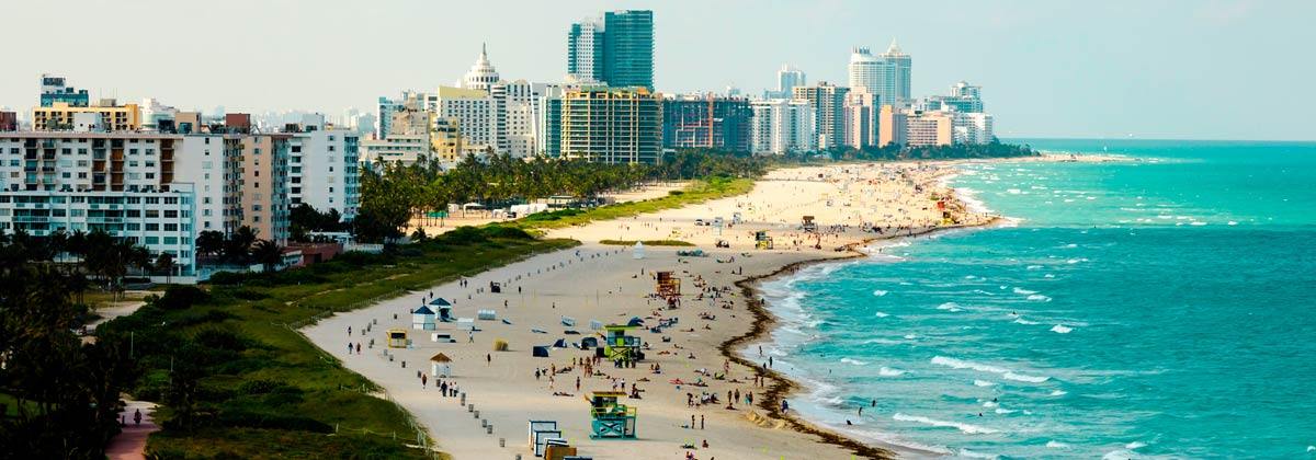 Miami Beach, one of the top U.S. vacation beaches