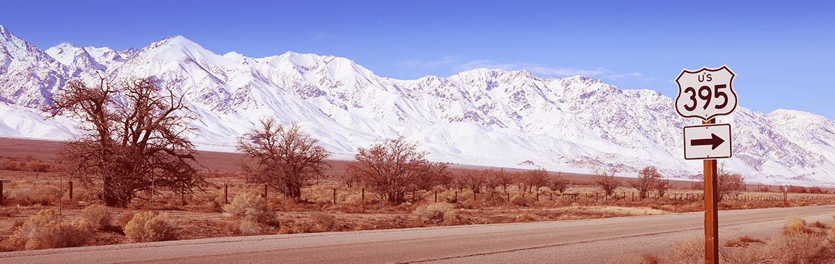 Sierra Nevada Mountains as seen from U.S. Highway 395