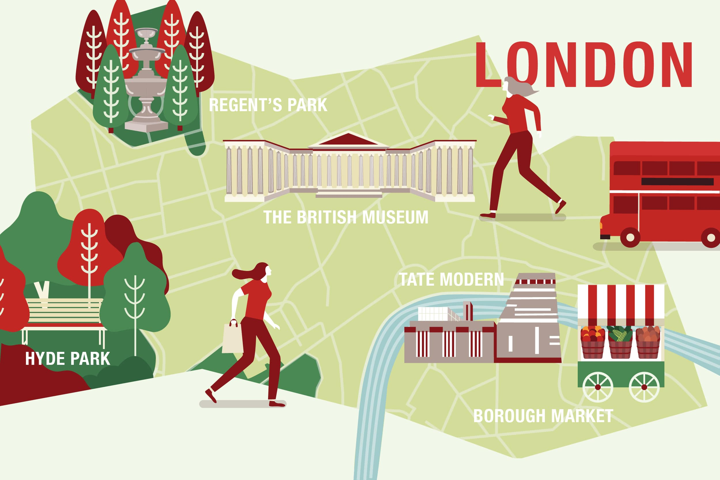 Free things to do in London infographic