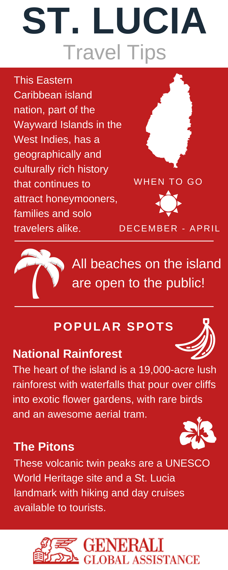 St. Lucia Travel Tips Infographic